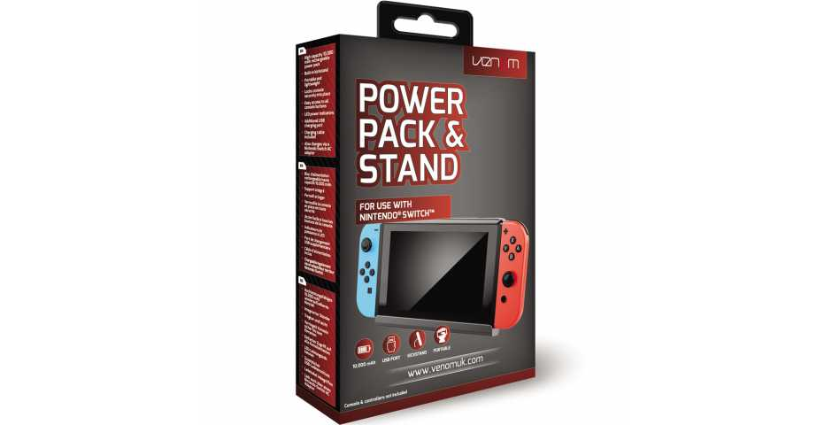 Подставка-аккумулятор Venom Power Pack & Stand [Switch]