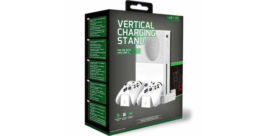 Заряжающий стенд Venom Vertical Charging Stand (белый) [Xbox One]
