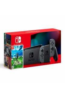 Комплект Nintendo Switch 2019 (серый) + The Legend of Zelda: Breath of the Wild