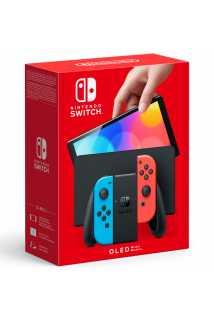 Nintendo Switch (OLED-модель) (неоновая синяя/неоновая красная)