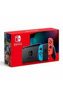 Nintendo Switch 2019 (неоновый красный/неоновый синий)