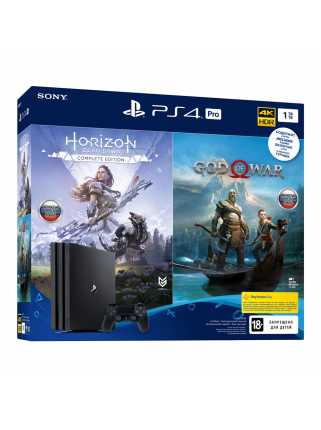PlayStation 4 Pro 1TB + Horizon: Zero Dawn Complete Edition + God of War