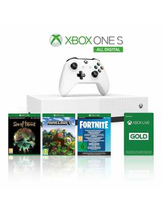 Xbox One S 1TB All-Digital Edition + Minecraft + Sea of Thieves + Fortnite