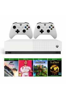 Xbox One S 1TB All-Digital Edition + Minecraft + Sea of Thieves + Forza Horizon 3 + FIFA 20 + 2 геймпада