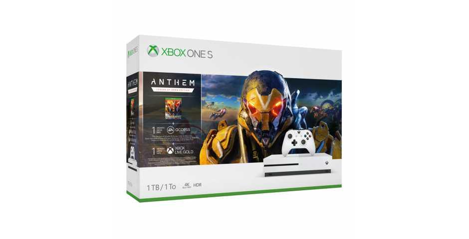 Microsoft Xbox One S 1TB Anthem: Legion of Dawn Edition