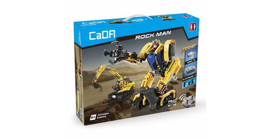 Радиоуправляемый конструктор CaDA ROCK MAN 2 в 1