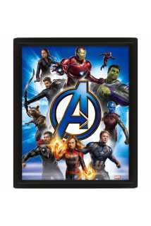 Постер 3D Avengers: Endgame (Avengers Unite)