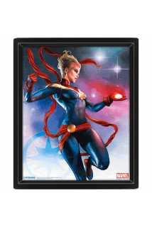 Постер 3D Captain Marvel (Galaxy)