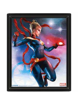 Постер 3D Captain Marvel (Galaxy)