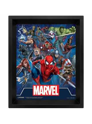 Постер 3D Marvel (Cinematic Icons)