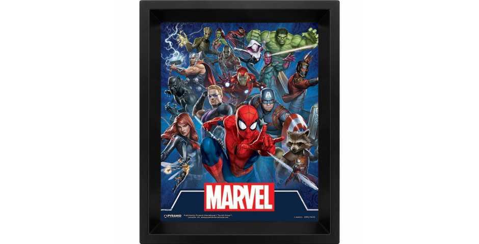 Постер 3D Marvel (Cinematic Icons)