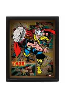 Постер 3D Marvel (Thor Hammer)