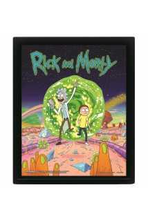 Постер 3D Rick and Morty (Portal)