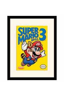 Принт в рамке Super Mario Bros 3 (NES Cover)