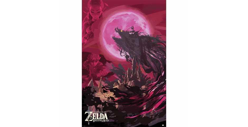Постер The Legend Of Zelda: Breath Of The Wild (Ganon Blood Moon)
