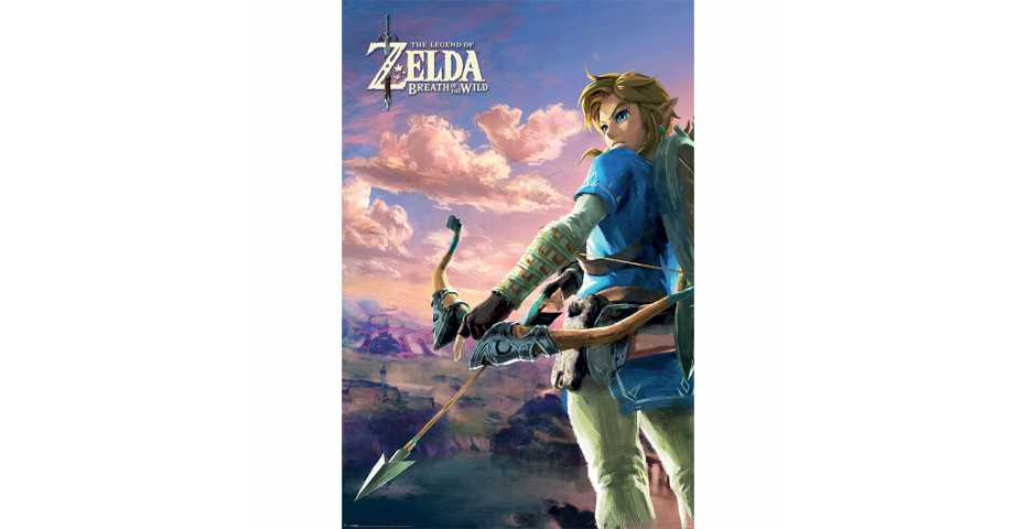 Постер The Legend Of Zelda: Breath Of The Wild (Hyrule Scene Landscape)