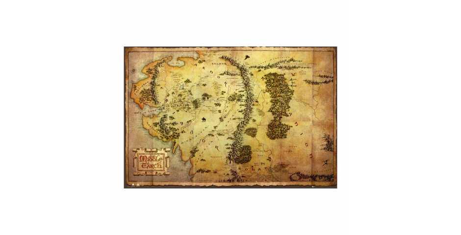 Постер The Hobbit (Journey Map)