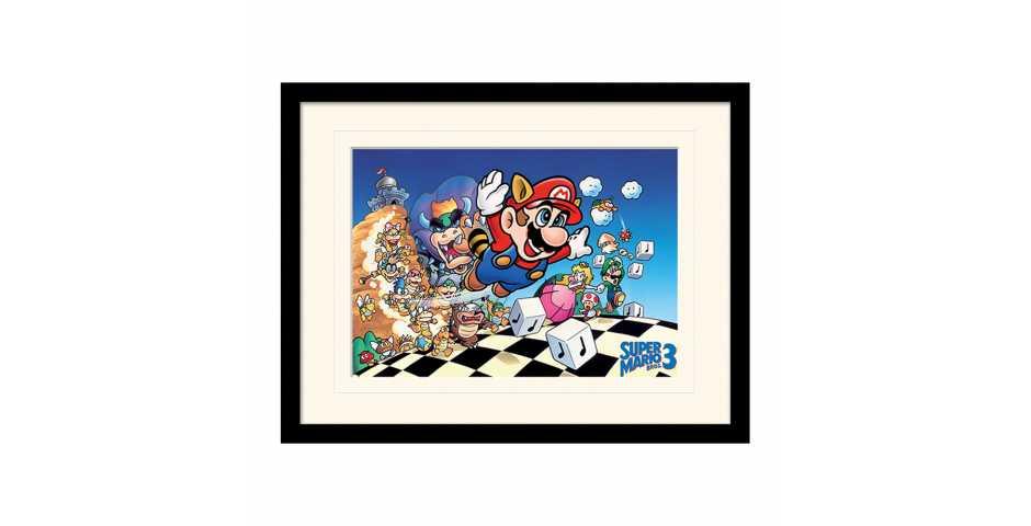 Принт в рамке Super Mario Bros 3 (Art)