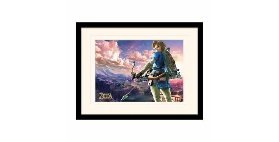 Принт в рамке The Legend Of Zelda: Breath Of The Wild (Hyrule Scene Landscape)
