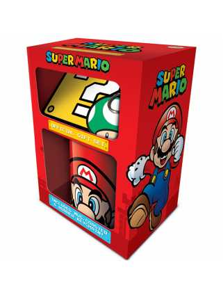 Набор Super Mario (Mario): кружка + подставка + брелок