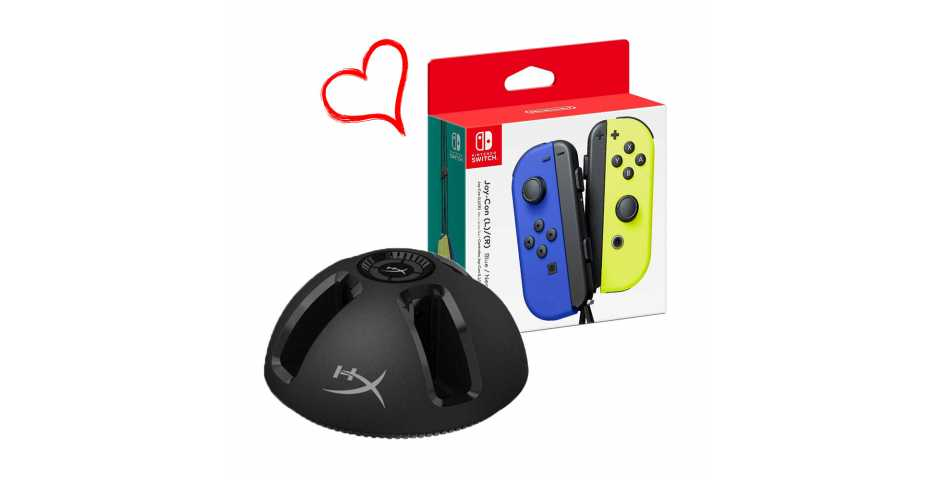 HyperX ChargePlay Quad + Joy-Con (L/R) Blue / Neon Yellow