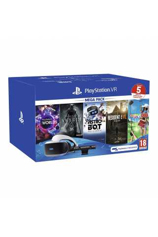 Sony PlayStation VR Mega Pack 2019 (шлем, камера и 5 игр) (CUH-ZVR2)