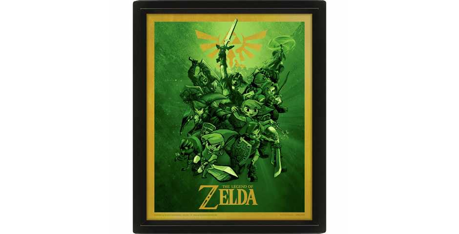 Постер 3D The Legend Of Zelda (Link)