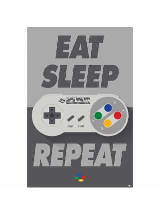 Постер Nintendo (Eat Sleep SNES Repeat)