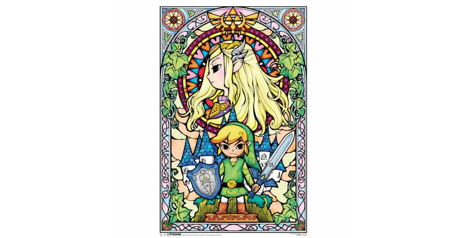 Постер The Legend Of Zelda (Stained Glass)