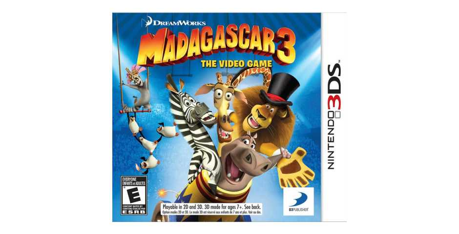 Мадагаскар 3: The Video Game [3DS]