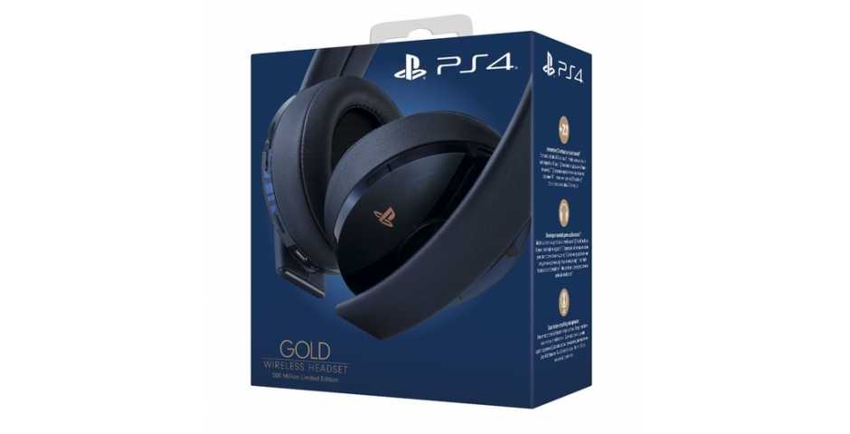 Гарнитура Sony Gold Wireless Headset 500 Million Limited Edition