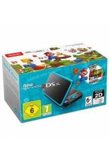 New Nintendo 2DS XL (черный + бирюзовый) + Super Mario 3D Land (код)