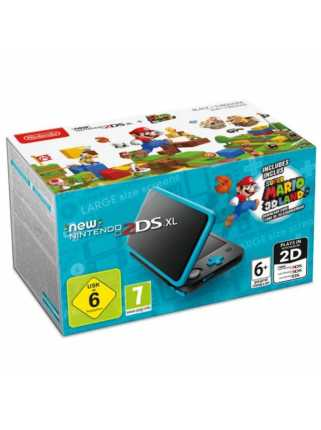New Nintendo 2DS XL (черный + бирюзовый) + Super Mario 3D Land (код)