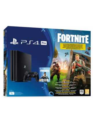 Sony PlayStation 4 Pro (1ТБ), черная + дополнение к игре Fortnite: Battle Royale