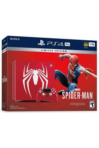 Sony PlayStation 4 Pro (1 ТБ), Marvel's Spider-Man Limited Edition Предзаказ