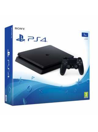 Sony PlayStation 4 Slim (1ТБ), черная