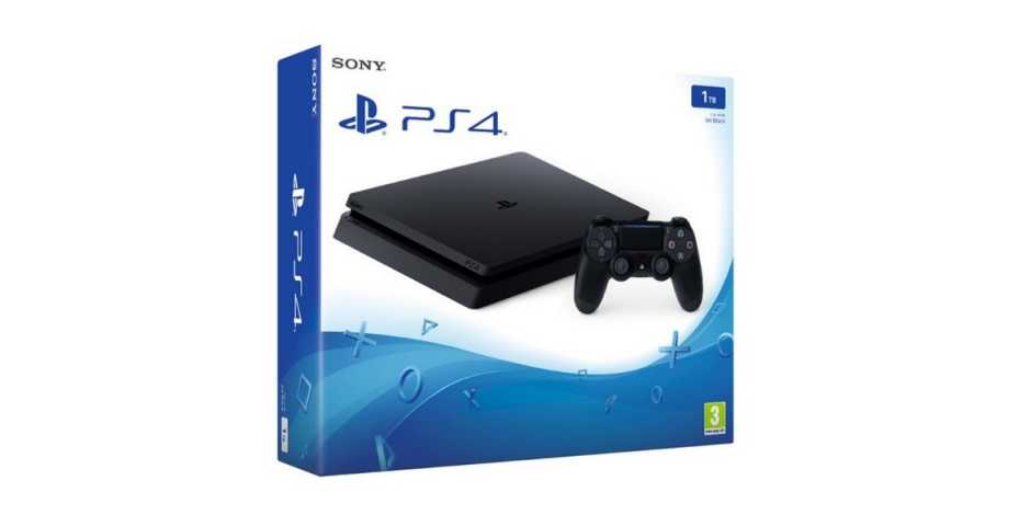 Sony PlayStation 4 Slim (1 ТБ), черная