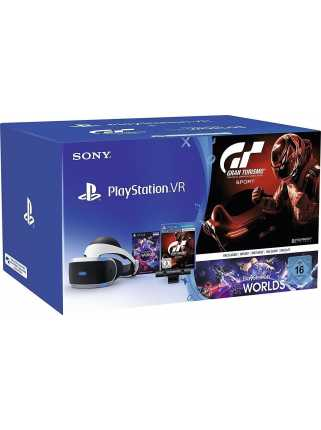 Sony PlayStation VR (с камерой, Gran Turismo Sport и VR Worlds) (CUH-ZVR1)