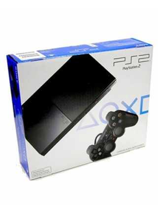 Sony PlayStation 2 Slim Black 90008   (Чипованая)