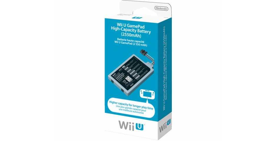 Аккумулятор повышенной емкости для Nintendo WiiU