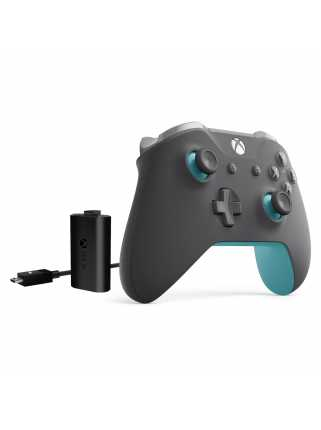 Геймпад Xbox One S Grey/Blue + Play & Charge Kit