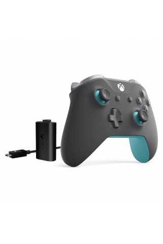 Геймпад Xbox One S Grey/Blue + Play & Charge Kit