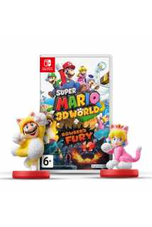 Super Mario 3D World + Bowser's Fury + Комплект фигурок amiibo (Cat Mario + Cat Peach)  [Switch]