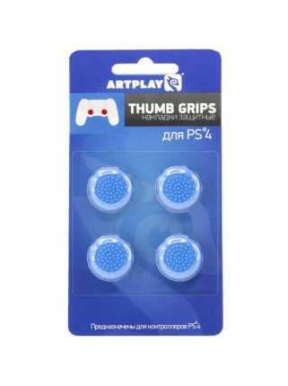 Накладки Artplays Thumb Grips (синие 4шт.) [PS4]