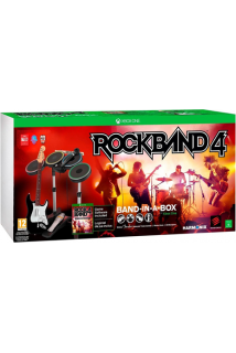 Rock Band 4 Band-In-A-Box (Игра + Гитара + Барабаны + Микрофон) [Xbox One]