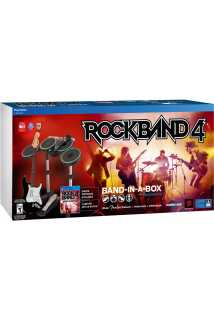 Rock Band 4 Band-In-A-Box (Игра + Гитара + Барабаны + Микрофон) [PS4]