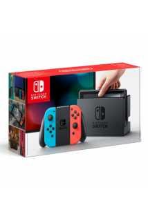 Nintendo Switch (неоновый красный/неоновый синий)