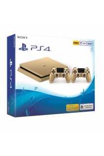 Sony PlayStation 4 (500ГБ) золотая с геймпадом DualShock 4