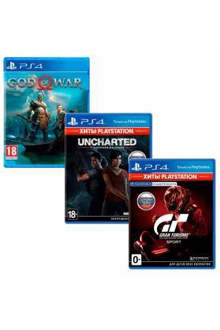 God of War + Uncharted: Утраченное наследие + Gran Turismo Sport