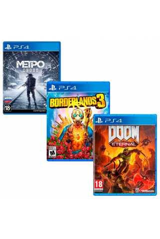 Метро: Исход + Borderlands 3 + DOOM Eternal